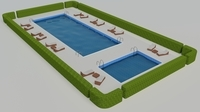 Swimming Pool Scene 3D Model