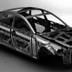 Generic Car Body in white 3D Model