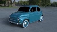Fiat 500L Luxe 1968 HDRI 3D Model