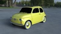 Fiat 500D Nuova 1960 HDRI 3D Model