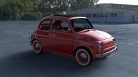 Fiat 500L Luxe 1968 with interior HDRI 3D Model