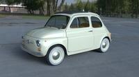Fiat 500D Nuova 1960 with interior HDRI 3D Model