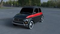 Fiat 500 Nuova Sport 1958 HDRI 3D Model