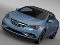 Opel Cascada Turbo 2016 3D Model