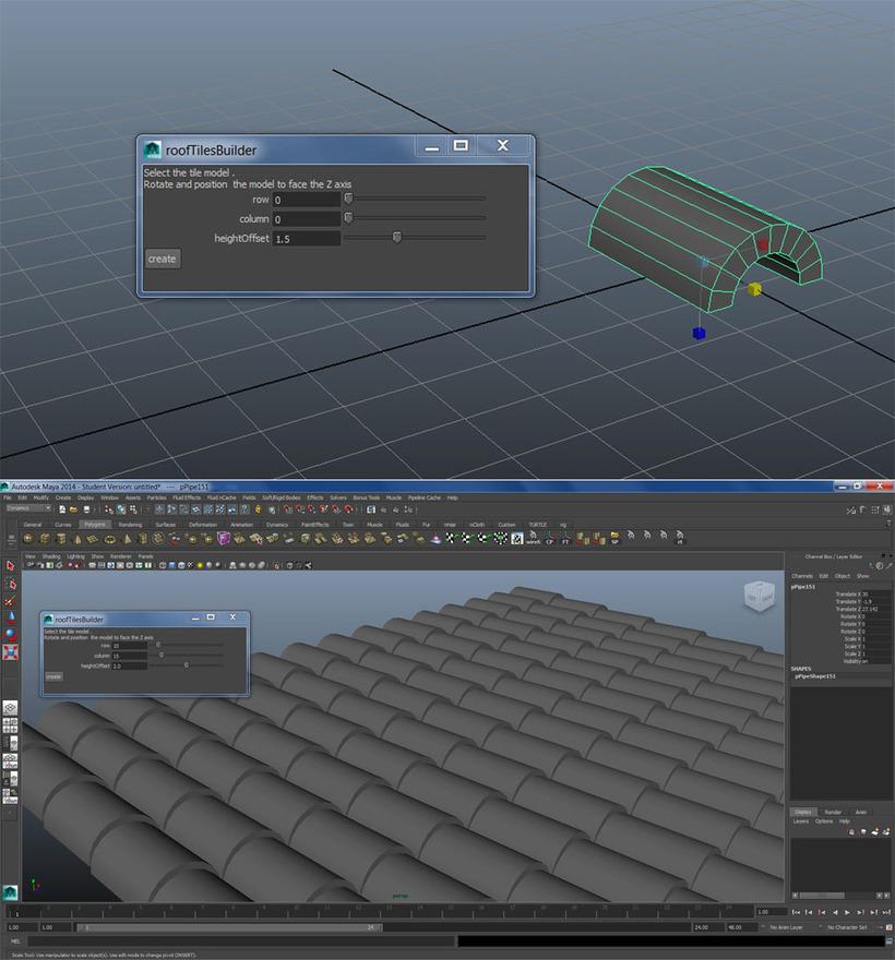 roofTilesBuilder for Maya