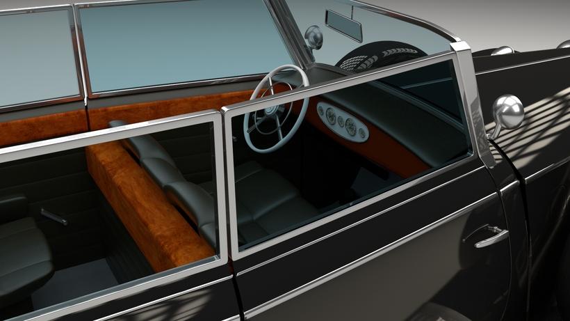 Mercedes 770K Staff Car HDRI 3D Model