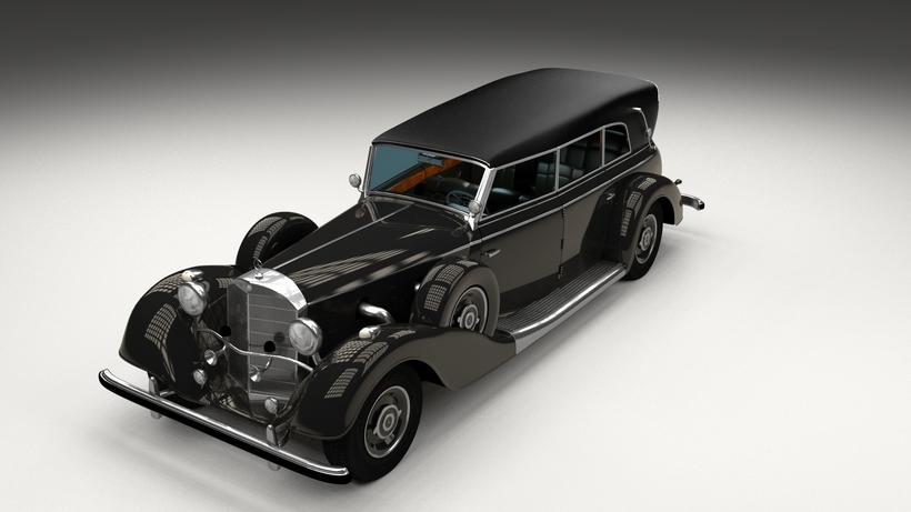 Mercedes 770k Grosser Staff Car HDRI 3D Model