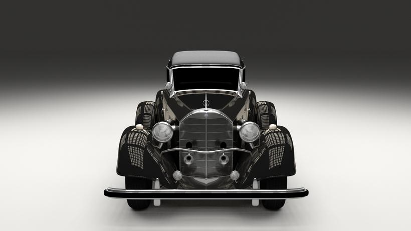 Mercedes 770 Staff Car HDRI 3D Model