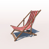 20 42 27 742 deck chair red weathered 02 4