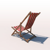 20 42 28 918 deck chair red weathered 03 4