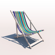 Deck Chair - Contemporary 3D Model