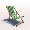 20 43 06 850 deck chair green weathered 01 4