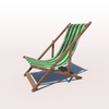 20 43 07 643 deck chair green weathered 02 4