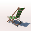 20 43 08 537 deck chair green weathered 03 4