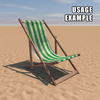 20 43 09 290 deck chair green weathered usage 4