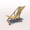 20 43 19 577 deck chair yellow weathered 02 4