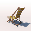 20 43 20 759 deck chair yellow weathered 03 4