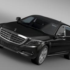Mercedes Maybach Guard S600 X222 2016 3D Model