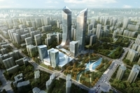 Skyscraper in city 100 3D Model