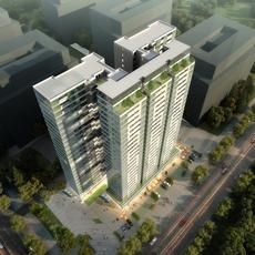 City shopping mall 007 3D Model