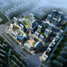 City shopping mall 045 3D Model