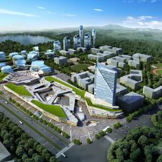 City shopping mall 052 3D Model