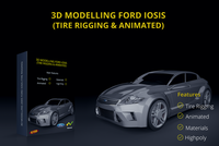 Ford Iosis concept 2005 with (Tire rigging & Animated) 3D Model