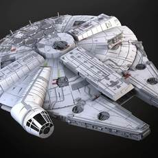 StarWars Millennium Falcon with Interior 3D Model