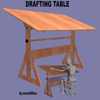 Drafting Table FBX + OBJ 3D Model