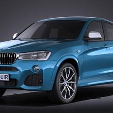 BMW X4 M40i 2016 VRAY 3D Model