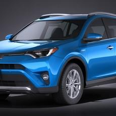 Toyota RAV4 Hybrid 2016 3D Model