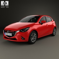 Mazda Demio 5-door hatchback 2014 3D Model