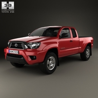 Toyota Tacoma Access Cab 2012 3D Model