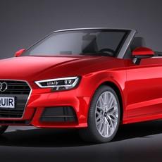 Audi A3 2017 cabriolet 3D Model