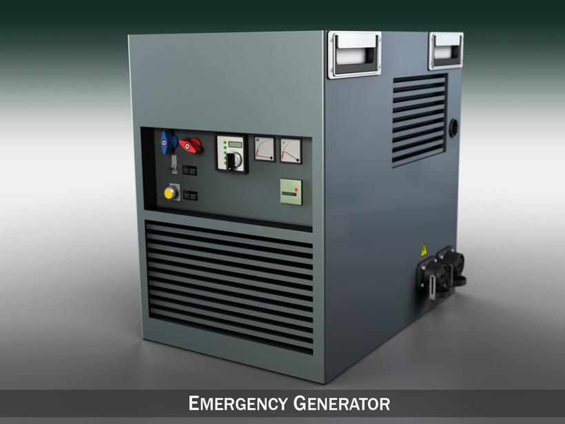 Emergency generator 3D Model