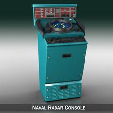 Naval Radar Console 3D Model