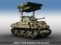 M4A3 Sherman Calliope 3D Model