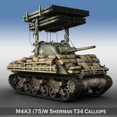M4A3 Sherman Calliope 3D Model