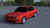 BMW 5 Series E34 HDRI 3D Model