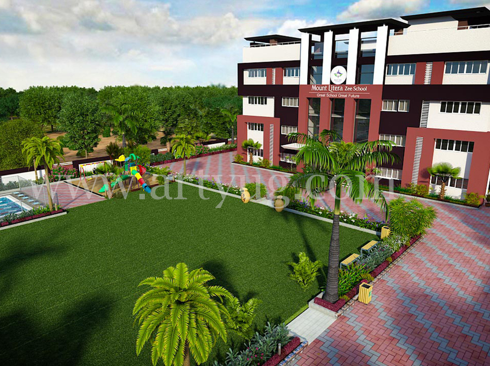 Mount litera zee school 3d exterior show
