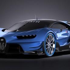 Bugatti Vision Gran Turismo Concept 2015 VRAY 3D Model