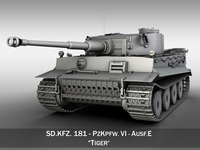 Tiger - Early Production 3D Model