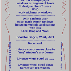 LwIn windows manager  (early version called m_Cycle.UP) for Maya 1.0.1 (maya script)