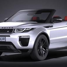 Land Rover Range Rover Evoque Convertible 2017 3D Model