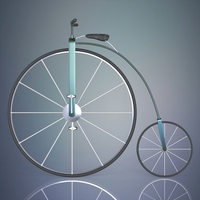 penny farthing bicycle 3D Model