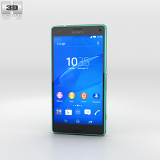 Sony Xperia Z3 Compact Green 3D Model