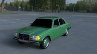 Mercedes-Benz W123 HDRI 3D Model