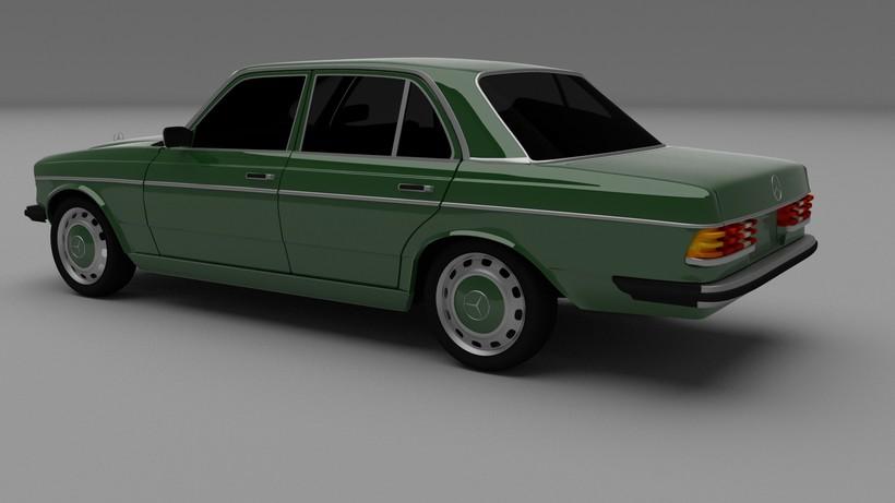 Mercedes-Benz W123 HDRI 3D Model