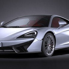 McLaren 570GT 2017 3D Model