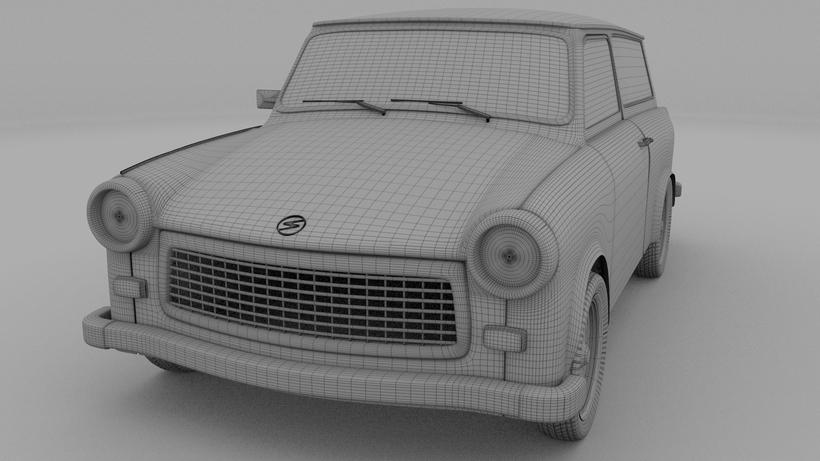 Trabant 601 Estate HDRI 3D Model